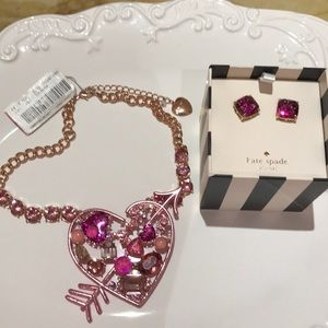 Betsey & Kate necklace earrings combo nwt
